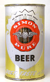 Simon Pure Beer  Flat Top Beer Can