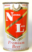 National Lager Beer  Flat Top Beer Can
