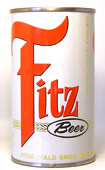 Fitz Beer  Flat Top Beer Can