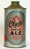 Clyde Cream Ale  Low Profile Cone Top Beer Can