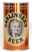 Gablingers Beer  Tab Top Beer Can