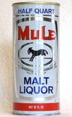 Mule Malt Liquor  Tab Top Beer Can