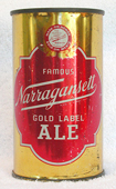 Narragansett Ale  Flat Top Beer Can
