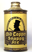 Old Topper Ale  J Spout Cone Top Beer Can