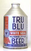 Tru Blu Beer  Crowntainer Cone Top Beer Can