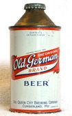 Old German Beer  High Profile Cone Top Beer Can