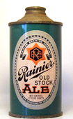 Rainier Ale  Low Profile Cone Top Beer Can