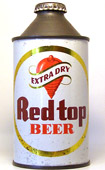 Red Top Beer  High Profile Cone Top Beer Can