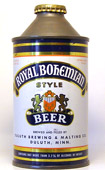 Royal Bohemian Beer  High Profile Cone Top Beer Can