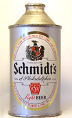 Schmidt Beer  High Profile Cone Top Beer Can