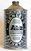 Hanleys Ale  Quart Cone Top Beer Can