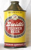 Breidts Beer  High Profile Cone Top Beer Can