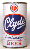 Clyde Beer  Flat Top Beer Can