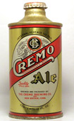 Cremo Ale  J Spout Cone Top Beer Can