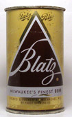 Blatz Beer  Flat Top Beer Can
