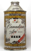 Canadian Ace Beer  High Profile Cone Top Beer Can
