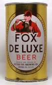 Fox Deluxe Beer  Flat Top Beer Can