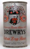 Drewrys Beer  Flat Top Beer Can