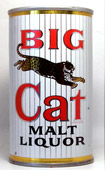 Big Cat Malt Liquor  Tab Top Beer Can