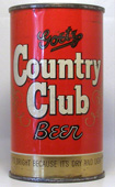 Country Club Beer  Flat Top Beer Can