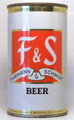 F and S Beer  Flat Top Beer Can