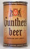 Gunther Beer  Flat Top Beer Can