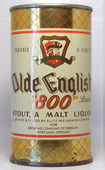 Olde English 800 Malt Liquor  Flat Top Beer Can