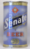 Senate Beer  Flat Top Beer Can