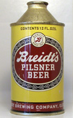 Breidts Beer  High Profile Cone Top Beer Can