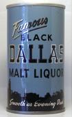 Black Dallas Malt Liquor  Tab Top Beer Can