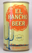 El Rancho Beer  Tab Top Beer Can