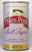 Pikes Peak Malt Liquor  Tab Top Beer Can