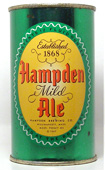 Hampden Ale  Flat Top Beer Can