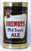 Drewrys Ale  Flat Top Beer Can