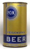 Feigenspan Beer  Flat Top Beer Can