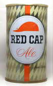 Red Cap Ale  Tab Top Beer Can
