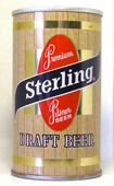 Sterling Draft  Tab Top Beer Can