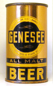 Genesee All Malt Beer  Flat Top Beer Can
