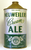 Neuweilers Ale  Quart Cone Top Beer Can