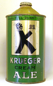 Krueger Ale  Quart Cone Top Beer Can