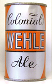 Wehle Colonial Ale  Flat Top Beer Can