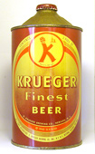 Krueger Beer  Quart Cone Top Beer Can