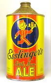 Esslingers Ale  Quart Cone Top Beer Can
